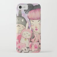 loll3 iPhone & iPod Cases featuring Noodle Eater by lOll3