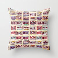 records Throw Pillows featuring Nobody's records by kubizm