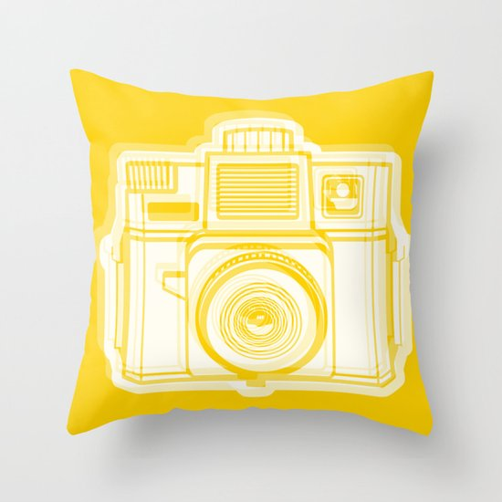 I Still Shoot Film Holga Logo - Reversed Yellow Throw Pillow