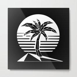 New Retro Palm Metal Print
