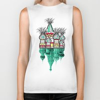 architecture Biker Tanks featuring Pineapple architecture  by AmDuf