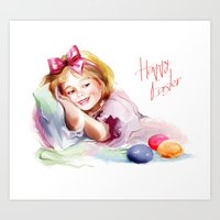 easter Art Prints featuring Easter by tatiana-teni