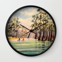 Suwannee River Florida Canoeing Wall Clock