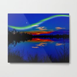 North light over a lake Metal Print