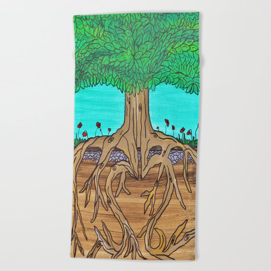 Family Roots Beach Towel