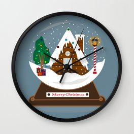 Snowball Wall Clock