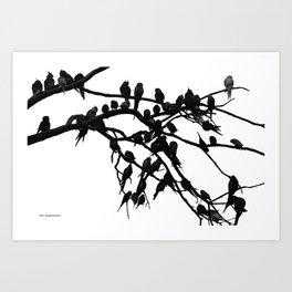 Noisy Silouettes Art Print