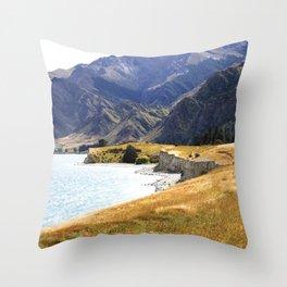 Under the Hills Throw Pillow