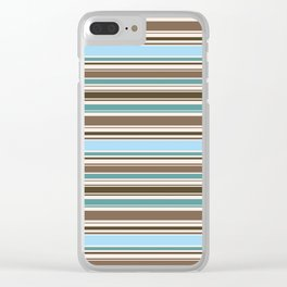 Perfect Line Collection - Browns & Blues Clear iPhone Case