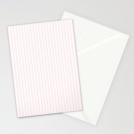 Light Soft Pastel Pink and White Mattress Ticking Stationery Cards