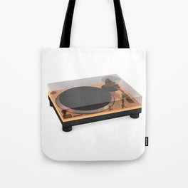 Golden Turntable Tote Bag