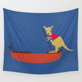 Kangaroo on Gondola Wall Tapestry