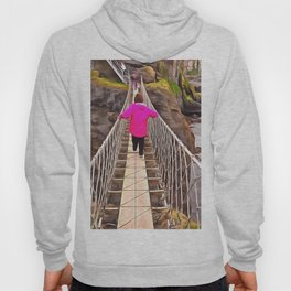 Carrick-a-rede rope bridge, Ireland. (Painting) Hoody