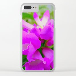 Trumpet Flower 1 Clear iPhone Case