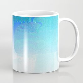 Faded in Frost - Digital Grunge Abstract Coffee Mug