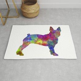 Boston Terrier 01 in watercolor Rug