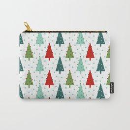 Christmas Tree holiday dots snow polka dot minimal modern geometric christmas decor design Carry-All Pouch