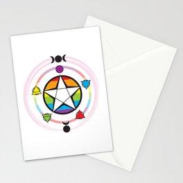 LGBT Elemental Pentagram Stationery Cards