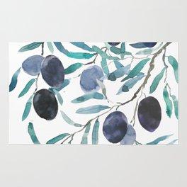 black olive watercolor 2018 Rug