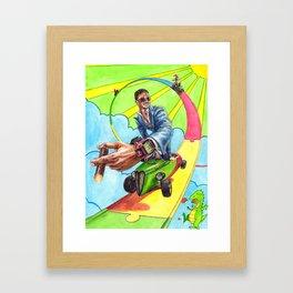 Candy Land. Sevenfriday, Rocketbyz and Watch Anish travel through Sunflowerman's imagination Framed Art Print