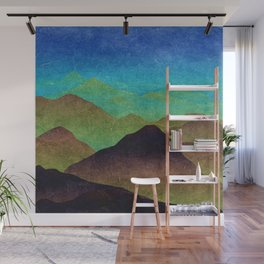 Through hilly lands and hollow lands Wall Mural