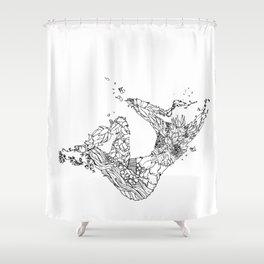 Swimmin' In Green Shower Curtain