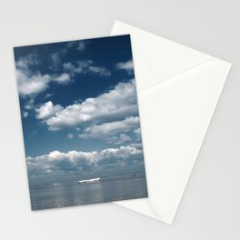 Beautiful blue sky over the Gulf of Finland Stationery Cards