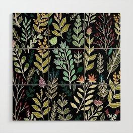 Dark Botanic Wood Wall Art