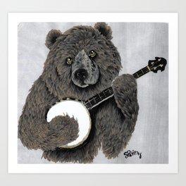 Banjo Bear Art Print