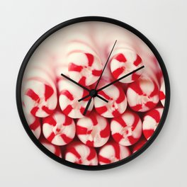 Candy Canes Wall Clock