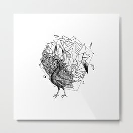 Geometric Season1:3 Peacock Metal Print