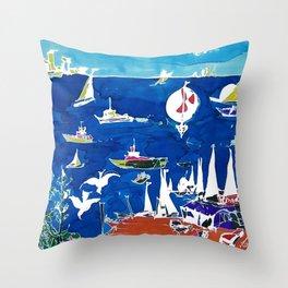 The Marina, Southport, AUSTRALIA        by Kay Lipton Throw Pillow