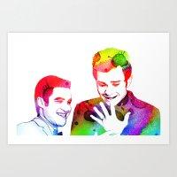 klaine Art Prints featuring Joy in Color by Jen K