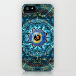 """Om Namah Shivaya"" Mantra- The True Identity- Your self iPhone Case"