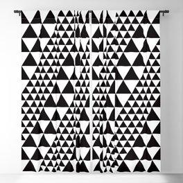 Geometric Pattern 39 (black triangles) Blackout Curtain