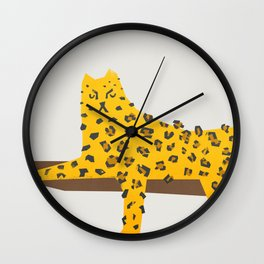 Leopard Lazy Wall Clock