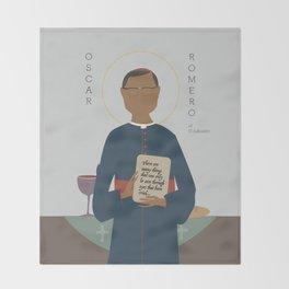 Oscar Romero of El Salvador Throw Blanket