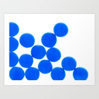 Crystal Balls Blue Art Print
