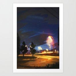 Summer Nights Art Print