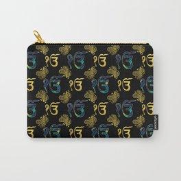 Luxury Ek Onkar / Ik Onkar  Pattern gold and marble Carry-All Pouch