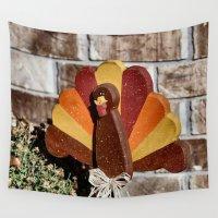 turkey Wall Tapestries featuring Turkey Day by IowaShots