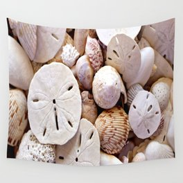 Seashells And Sand Dollars Wall Tapestry