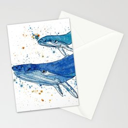 Whale Mommy and Baby Stationery Cards