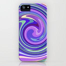 Purple Twist iPhone Case