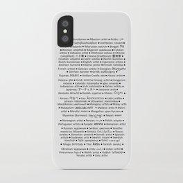 ARTIST in 91 languages iPhone Case