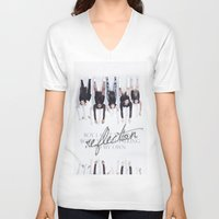 fifth harmony V-neck T-shirts featuring Reflection Harmony by Leticia