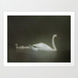 Dreamy White Enchantment Art Print
