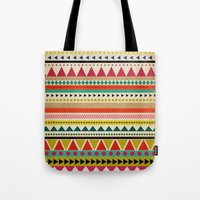 aztec Tote Bags featuring  AZTEC by Allyson Johnson