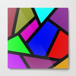 Suit modern abstract Metal Print