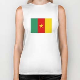 Cameroon country flag Biker Tank